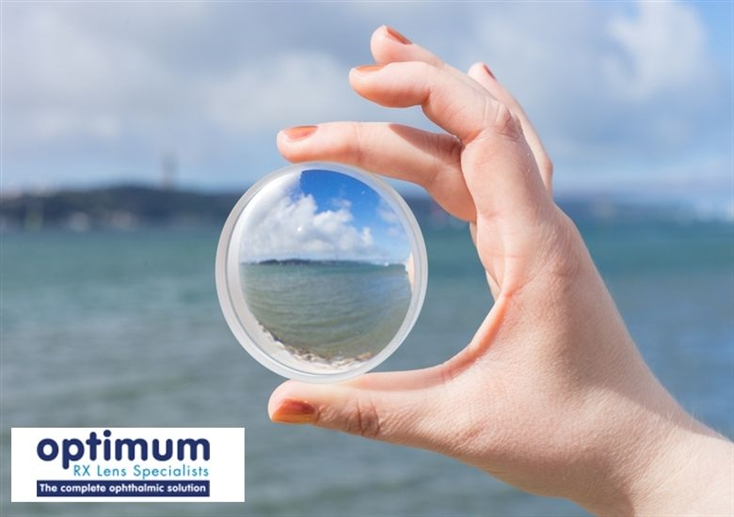 Optimum Coatings, hand holding circle lens