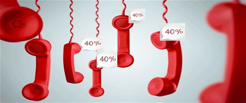 Our prices are 40% cheaper than most UK telephone providers standard pricing!