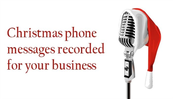 Share in the Christmas cheer with Christmas voicemail greetings professionally recorded for your business
